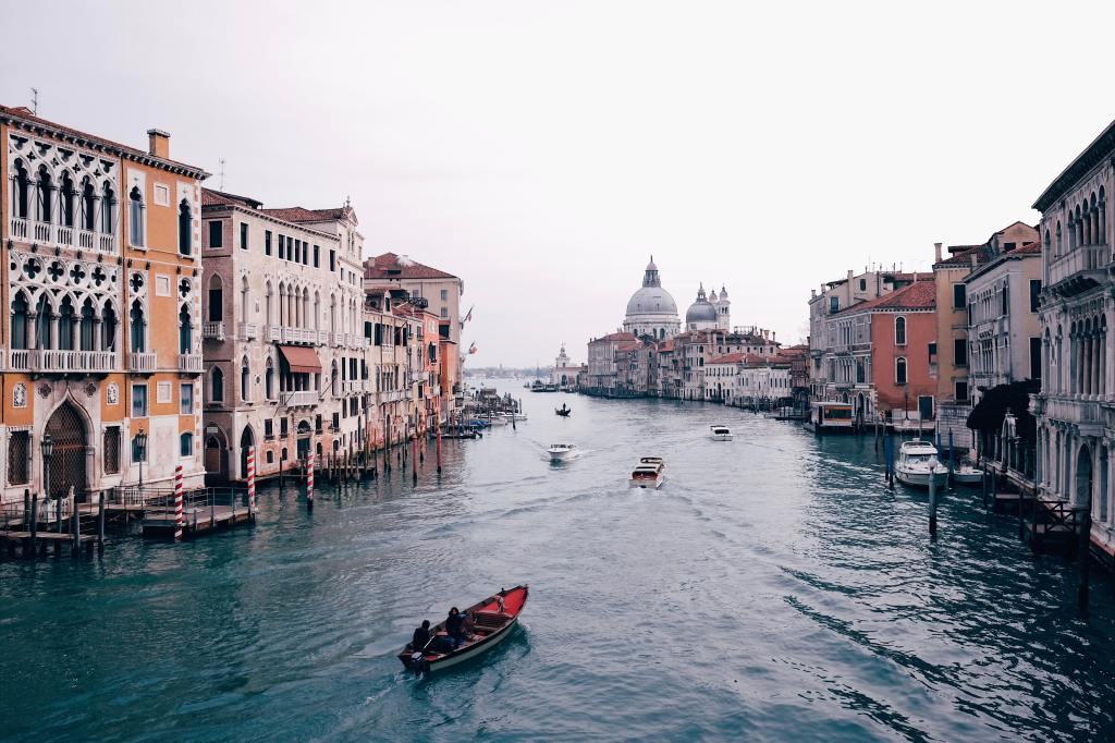 A view of the Grand Canal, Venice.